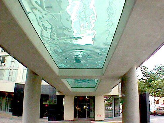 - Glass bottom pool ...